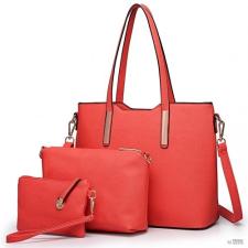Miss Lulu London LT6648 - Miss Lulu három darab bevásárló táska válltáska táska és Táska Clutch piros kézitáska és bőrönd