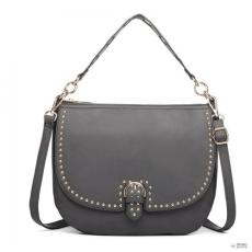 Miss Lulu London LT6815-MISS LULU szintetikus bőr pöttyDED nagyméretűHOBO kézi táska fekete