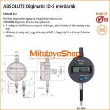 Mitutoyo ABSOLUTE Digimatic ID-S Mérőóra 12,7 mm 543-794B, Sík hátlap IP53