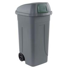 Mobil Plastic Műanyag kültéri hulladékgyűjtő, 100 l űrtartalom, szürke/zöld% szemetes