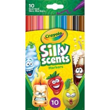 Modell & Hobby Kft. Crayola 10 db Illatos, lemosható, vékony filctoll filctoll, marker