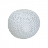Modern puff GOBI TYP 1 tejfelszin fehér melírrel