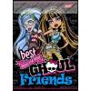 Monster High, Ghoul/Fekete 1. osztályos vonalas füzet, A5/14-32 - Unipap