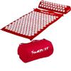 MOVIT akupresszúrás matrac 75 x 44 cm, párnával - piros