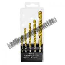 MTX fémfúró készlet 3-4-5-6-8mm, HSS-Ti 5db. fúrószár