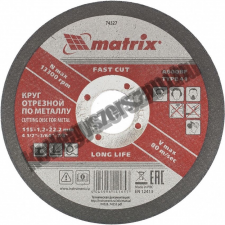 MTX vágókorong fém 115x1,2x22mm csiszolókorong és vágókorong