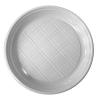 . Műanyag lapos tányér, 20 db