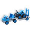 Műanyag traktorszállító kamion, gumi kerekekkel 61 cm - több színben