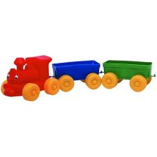 Műanyag vonat 3 darabos autópálya és játékautó