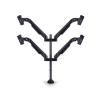 """Multibrackets asztali rögzítő Gas Lift Quad, dönthető, forgatható 15-32"""", fekete"""