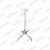 Multibrackets Projektor mennyezeti konzol III, univerzális, dönthető 180-430 mm, fehér