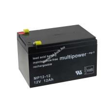 Multipower Ólom akku (Multipower) típus MP12-12 - VDS-minősítéssel (csatlakozó: F1) barkácsgép akkumulátor