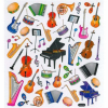 Music Sales Stickers Musical Instruments