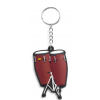 Musician Designer Music Key Chain Conga Red