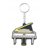 Musician Designer Music Key Chain Grand Piano White