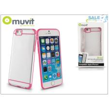 Muvit Apple iPhone 6/6S hátlap - Muvit Bimat - clear/pink tok és táska