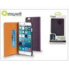 Muvit Apple iPhone 6 Plus/6S Plus flipes tok kártyatartóval - Muvit Slim and Stand - lila