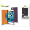 Muvit Apple iPhone 6 Plus/6S Plus flipes tok kártyatartóval - Muvit Slim and Stand - lila