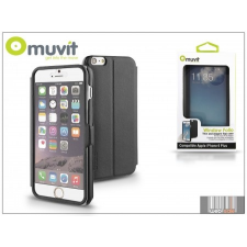 Muvit Apple iPhone 6 Plus flipes tok - Muvit Window Folio - black tok és táska