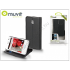 Muvit LG E430 Optimus L3 II flipes tok kártyatartóval - Muvit Slim and Stand - black