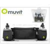 Muvit Muvit derékra köthető palacktartó öv - 2x 500 ml - Muvit Belt Pocket - black