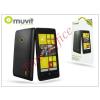 Muvit Nokia Lumia 520/525 hátlap - Muvit miniGel Glazy - black