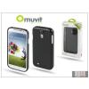 Muvit Samsung i9500 Galaxy S4 hátlap - Muvit miniGel - black