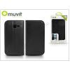 Muvit Samsung S7572 Galaxy Trend II Duos flipes tok kártyatartóval - Muvit Slim and Stand - black