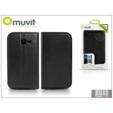 Muvit Samsung S7572 Galaxy Trend II Duos flipes tok kártyatartóval - Muvit Slim and Stand - black tok és táska