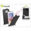 Muvit Samsung SM-G920 Galaxy S6 flipes tok képernyővédő fóliával - Muvit Slim Flip - black