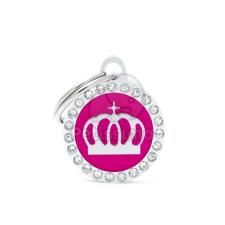My family biléta - Glam köralakú, korona pink (BH26GM05) kutyafelszerelés