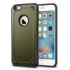 N/A iPhone 6S 4.7 Defender műanyag telefonvédő (közepesen ütésálló, gumi / szilikon belső, logo kivágás) SÖTÉTZÖLD/SZÜRKE