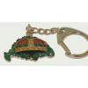 Nagy-Magyarországos zöld koronás kulcstartó (39 mm)