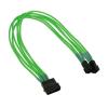 Nanoxia 4-Pin Molex - 2 x 3-Pin adapter - 30 cm - neon zöld