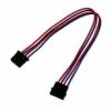 Nanoxia 4-Pin Molex tápkábel hosszabító 30 cm - Kék/Piros