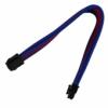 Nanoxia 6-Pin PCIe hosszabbító kábel 30 cm - Kék/Piros