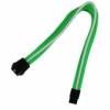 Nanoxia 6-Pin PCIe hosszabbító kábel 30 cm - Zöld/Fehér