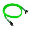 Nanoxia SATA III kábel hajlított - 45cm - neon-zöld