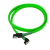 Nanoxia SATA III kábel hajlított - 60cm - neon-zöld