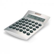 Napelemes számológép, matt ezüst számológép