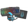 Natec Fury Thunderstreak Gaming Combo 4in1 szett US Angol
