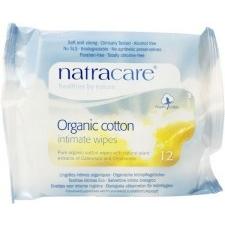 Natracare Bio Női Intim törlőkendő 12 db intim higiénia