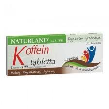 Naturland Koffein tabletta 20 db vitamin és táplálékkiegészítő