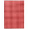 Nebuló Gumis mappa, karton, A4, kockás, DONAU, piros