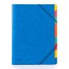 Nebuló Gumis mappa, karton, A4, regiszteres, 9 részes, DONAU, kék