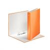 """Nebuló """"Gyűrűs könyv, 2 gyűrű, D alakú, 40 mm, A4 Maxi, karton, lakkfényű, LEITZ """"""""Wow"""""""", narancssárga"""""""