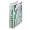 Nebuló Gyűrűs könyv, panorámás, 4 gyűrű, D alakú, 77 mm, A4 Maxi, PP, LEITZ, fehér