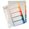 Nebuló Regiszter, műanyag, A4 Maxi, 1-5, nyomtatható, ESSELTE, áttetsző