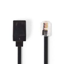 Nedis Nedis Telekommunikációs Hosszabbítókábel | RJ11 Dugasz - RJ11 Aljzat | 10,0 m | Fekete kábel és adapter
