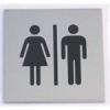 """NEMMEGADOTT tábla alu öntap. 60x60mm """"férfi/női WC"""" szimb."""